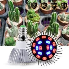Led Grow Light E27 Full Spectrum Plant Bulb E14 Fito Lamp 220V Hydroponics 18W Indoor Flowers 5730 SMD