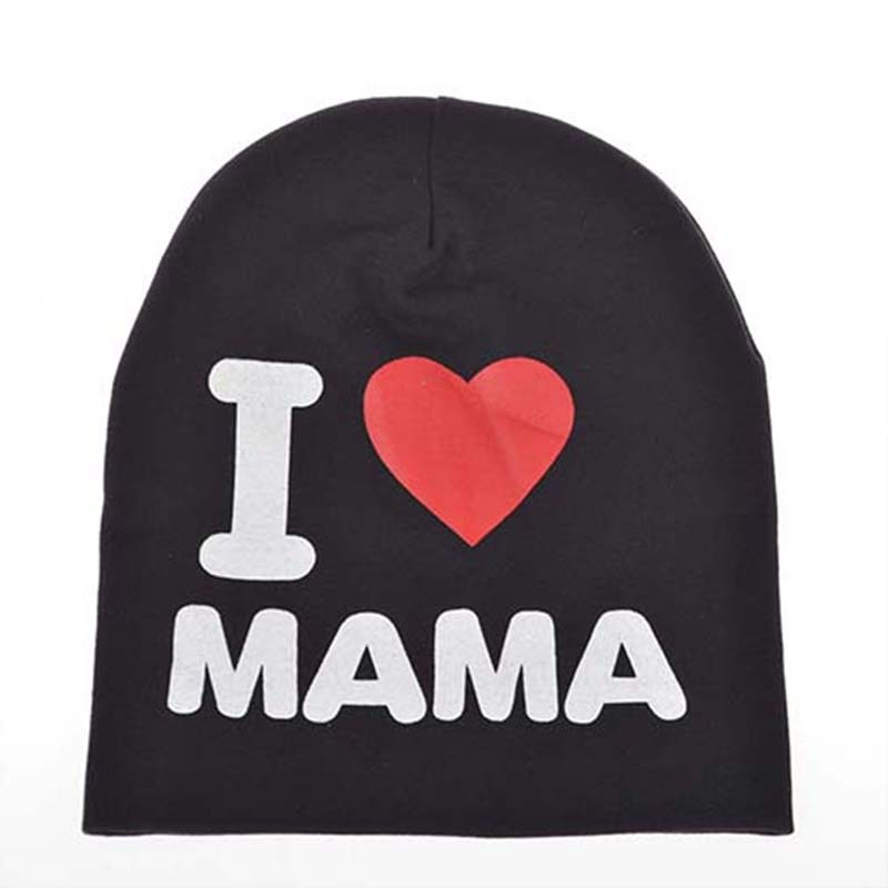 2015 Moda Sonbahar Bebek Şapka Örme Sıcak Pamuk Yürüyor Beanie Bebek kap Çocuk Kız erkek Ben Papa Mama Baskı Kid Şapkalar