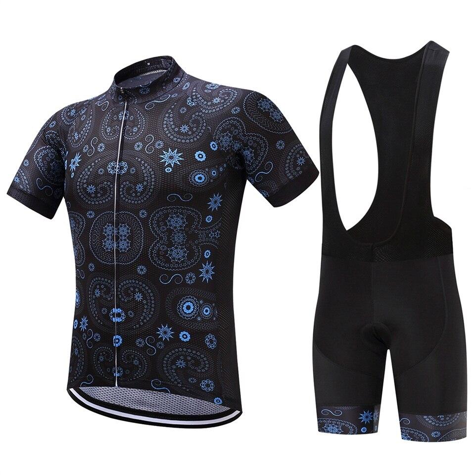 2017 Cyklistický dres s krátkým rukávem 2017 Cyklistika Ropa Ciclismo 100% Polyester Pro Team Cyklistické oblečení 9D Pad Cyklistické kraťasy pro MTB
