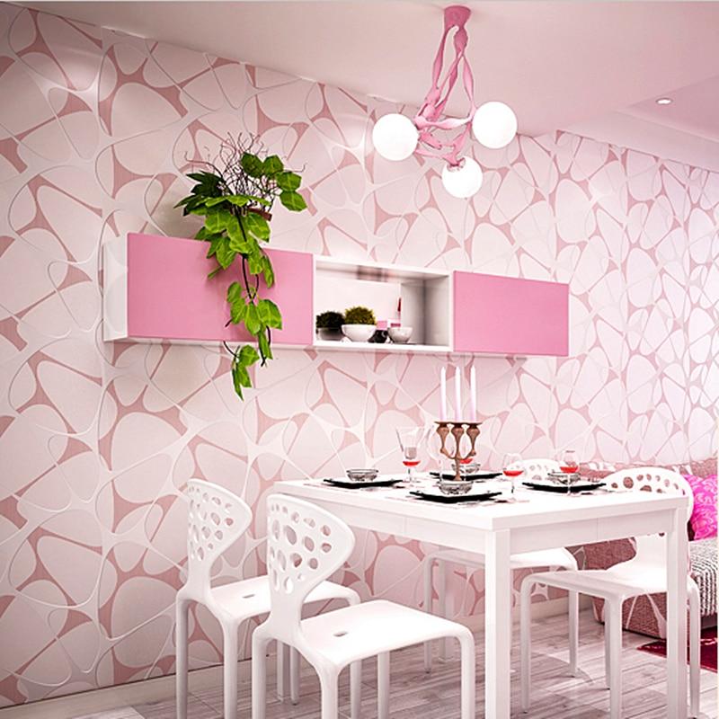 Bedroom Wallpaper Patterns: Environmental Protection Non Woven Wallpaper Modern Simple