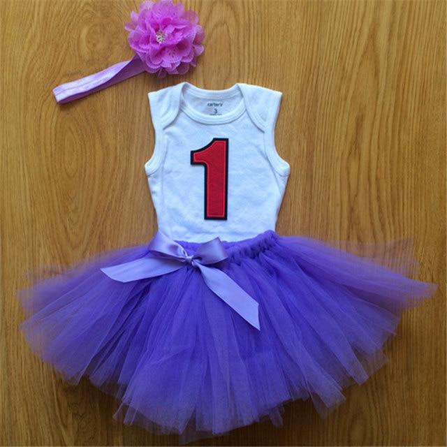1-й первый девочка 1 год день рождения платье для Ребенка платье принцессы одежда наряд младенческой девочка платье партии