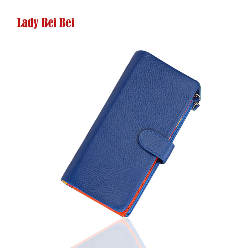 Cowhide Women Wallets Genuine Leather Wallet Woman Brand Coin Purse Zipper Ladies Leather Wallets Long Credit Cards holders new 2017 ladies genuine leather brand small wallets for credit cards women short wallet purses zipper roomy coin multi function