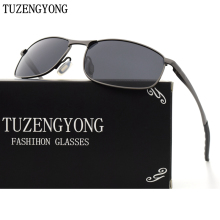 TUZENGYONG Fashion Alloy Frame Sunglasses Men Brand Designer Women Polarized Driving Sun Glasses Oculos Eyewear With Case T395