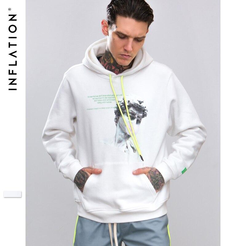 INFLATION Funny Printing Male Hoodies Streetwear Mens Tracksuit Male Hooded 2018 New Sportswear Fleece Hoody Sweatshirt 8810W-in Hoodies & Sweatshirts from Men's Clothing    1