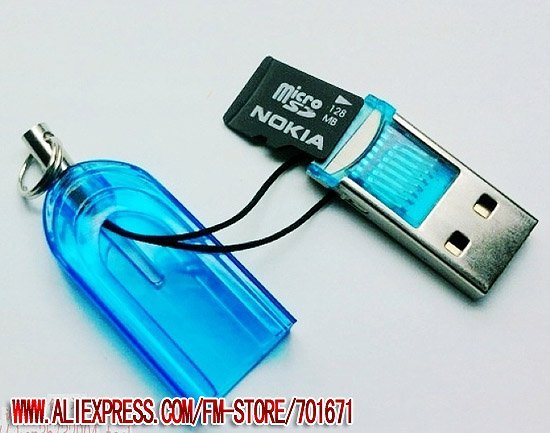 Free Shipping 50pc/lot Brand new TF micro sd card reader USB Flash 2.0 Drive sk003