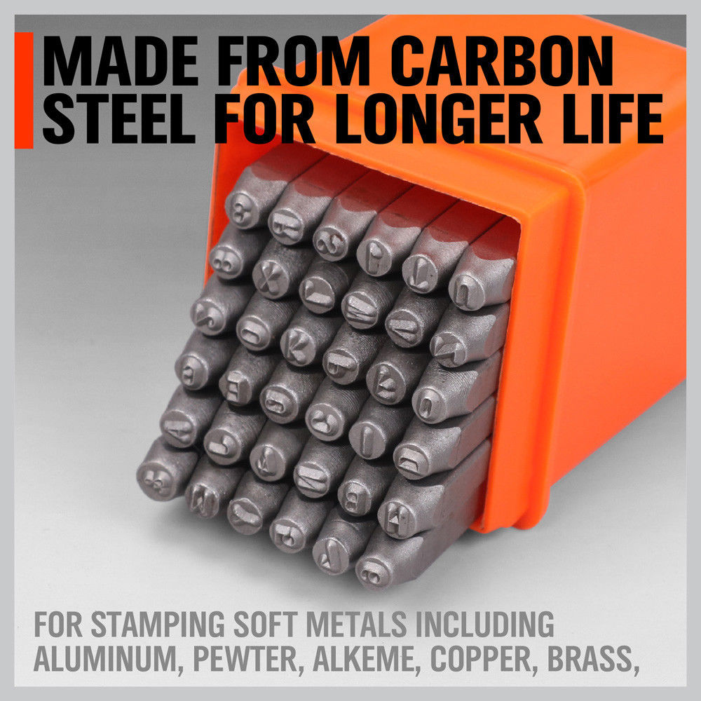 Купить с кэшбэком 37pcs Number and Letter Punch Set Hardened Steel Metal  Hollow Punch Set Handworking Hand Craft DIY Tool Set