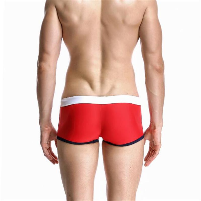 Topdudes.com - Men's Sexy Low Waist Boxer Beach Trunks