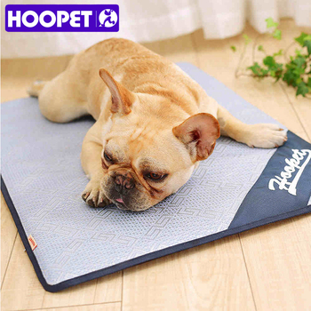 HOOPET Breathable Pet Dog Cat Summer Sleeping Mat Self Cooling Mattress Straw Mat Cold Pad Ice Cushion