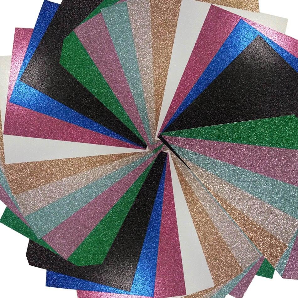 Acheter Papier cartonné 100 Feuilles peut choisir la couleur différente glitter papier de paper cardstock fiable fournisseurs