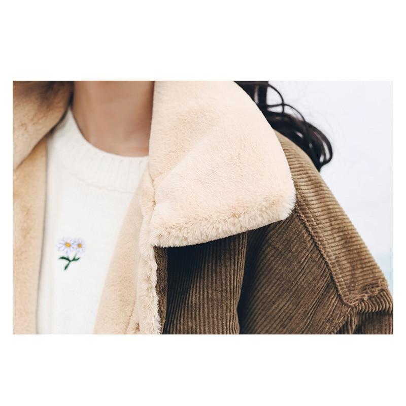 Ample dark Akslxdmmd Nouvelles Pardessus D'hiver Parkas Veste Velours 2019 Décontracté Coffee Manteau Green Lapin Lh1173 Femmes Femelle Épais Mujer pwpTBq