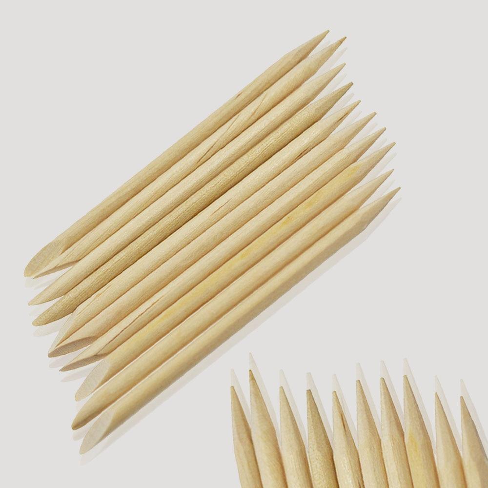 10pcs 7.5cm Double Sided Nail Art Orange Wood Sticks Cuticle Pusher Remover Nail Art Beauty Care Manicure Pedicure Tool LATR02