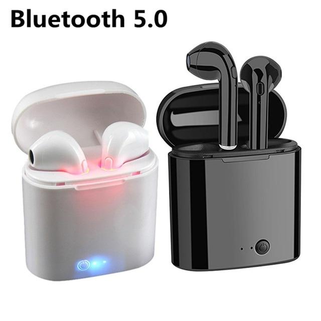 I7s TWS Беспроводные Bluetooth 5,0 наушники мини-гарнитуры наушники с микрофоном для Iphone samsung S6 S8 + Xiaomi huawei LG ios телефоны