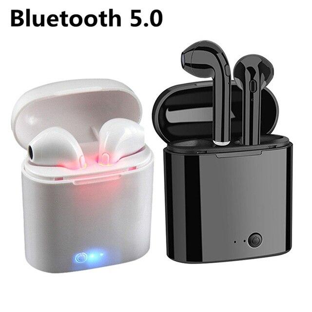 I7s TWS bezprzewodowy zestaw słuchawkowy Bluetooth 5.0 słuchawki mini zestawy słuchawkowe słuchawki douszne z mikrofonem dla Iphone Samsung S6 S8 + Xiaomi Huawei LG telefony z systemem iOS