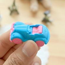 1X Kawaii classic cars Rubber Eraser Creative Macaron Eraser For Kids Student Gift Novelty Item Student School Supplies