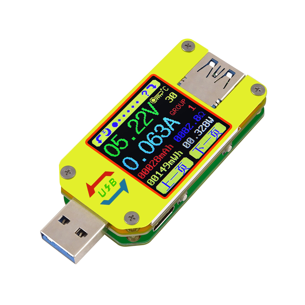UM34/UM34C For APP USB 3.0 Type-C DC Voltmeter Ammeter Voltage Current Meter Tester mini digital voltmeter ammeter dc 100v 30a voltmeter current meter tester vat1030 led display 274833