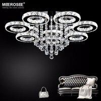 Современный светодиодный потолочный светильник из нержавеющей стали кристалл лампа для гостиной спальни алмазные кольцо со светодиодной