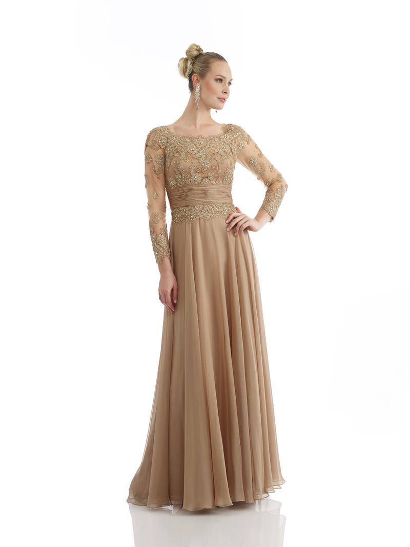 Gold Lace Mother Of The Bride Dress Elegant Mother Of The Bride Dress With Long Sleeve Chiffon Dress Party Evening