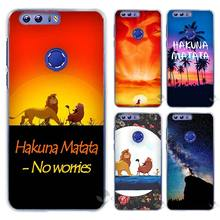 Hot sale hakuna matata lion king Hard Clear Case Cover Coque Shell for Huawei Honor 4 4C 4X 5 5C 5X 6 7 8 6X V8 Plus