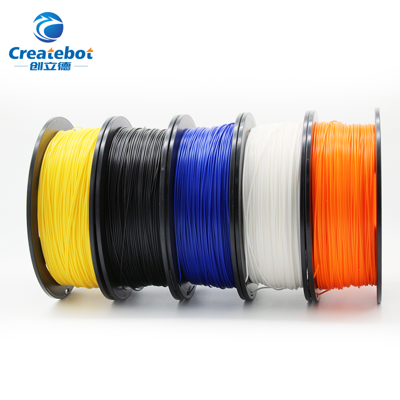 Createbot 3D printer filament PLA 1.75mm 1kg/500g plastic Rubber Consumables Material colorful Plastic Filament Materials createbot multicolors abs filament plastic material