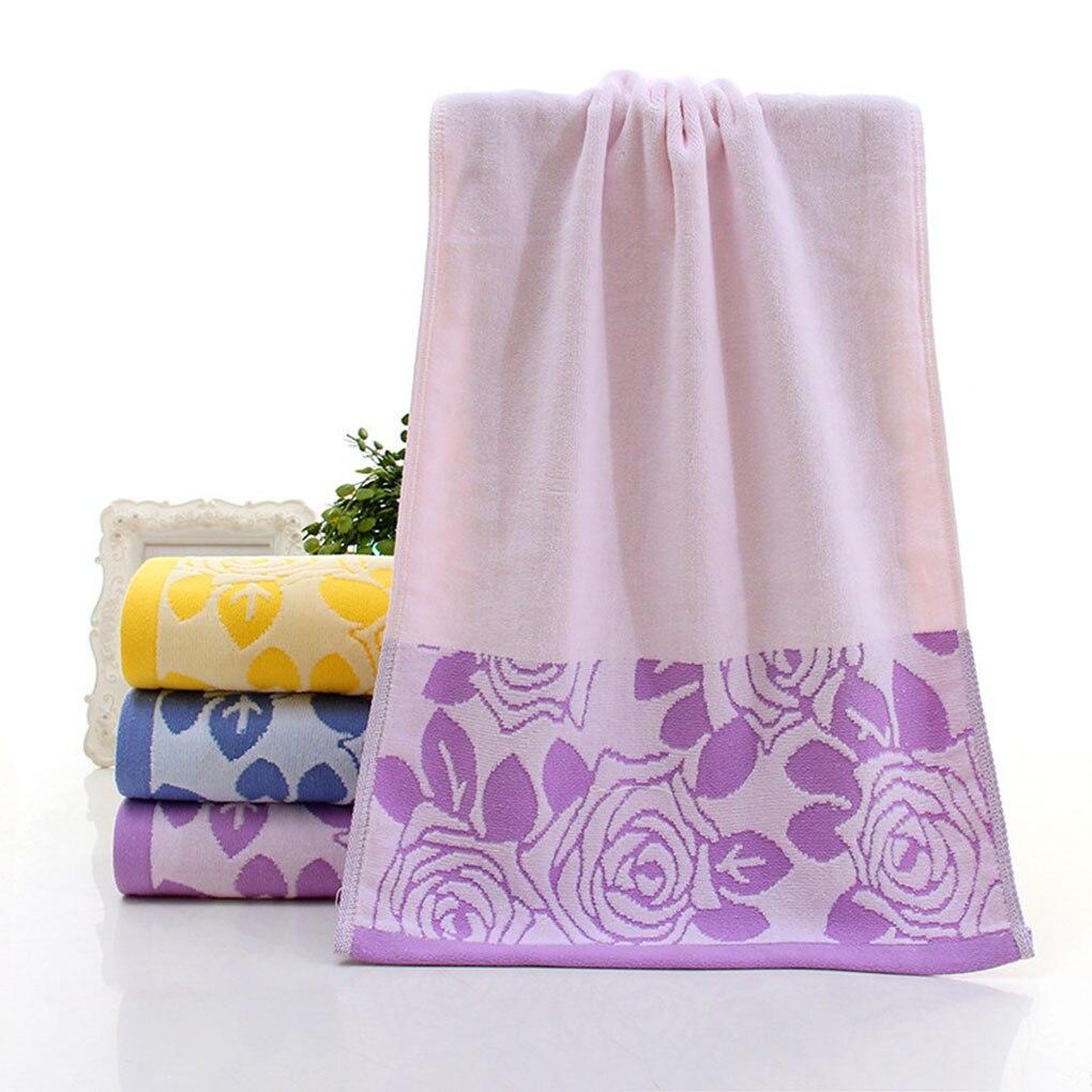 Textiles para el hogar de pelo cortado flor de rose de algodón face towel beach