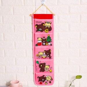 Image 5 - Karikatür duvar asılan saklama çantası moda oyuncak makyaj organizatör 5 cepler asılı çanta çanta durumda kapı banyo