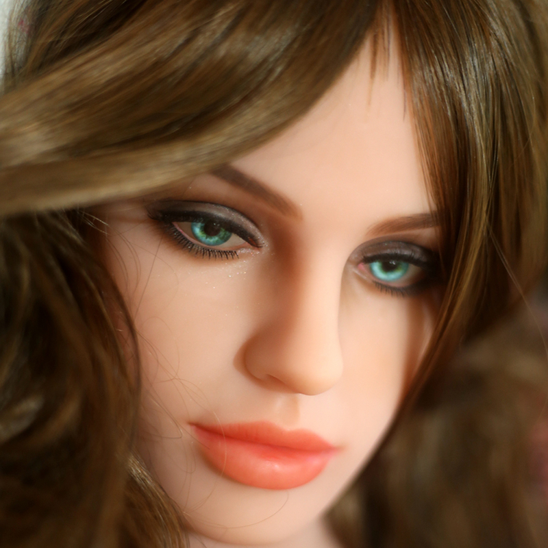 Top quality TPE solid sex dolls head for adult doll, oral real doll sex toy head, life size masturbator