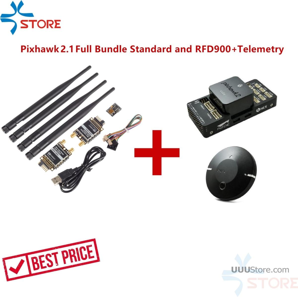 Tecnología hexagonal Pixhawk 2,1 paquete completo estándar placa de transporte RFD900 + Combo de telemetría