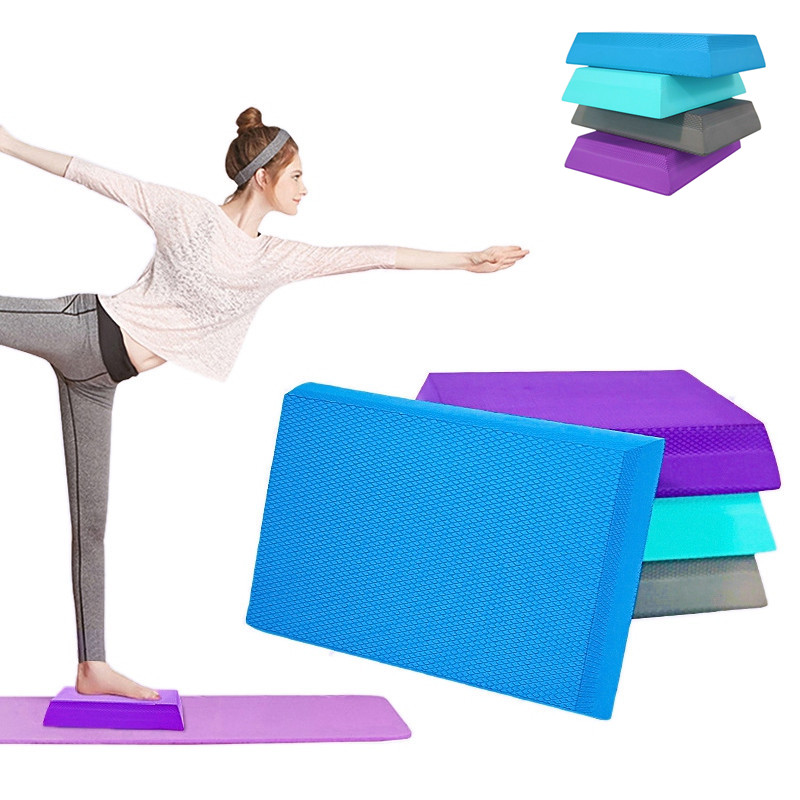 Trapezoidal Balance Pad Gym Yoga Wobble Board Pilates Physio Stability Training Mat