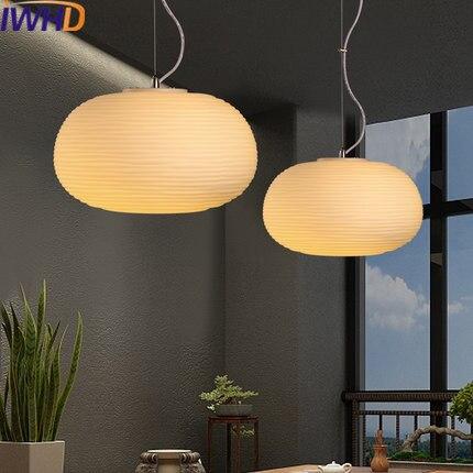 IWHD Modern Led Pendant Light Fixtures Creative white Glass Pendant Lights Fashion Dining roon Bar Kitchen Lamparas Luminaire
