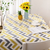 Nordic Minimalist Printed Striped Tablecloth Cotton Linen Tablecloth Restaurant Party Home Decoration Table Cloth