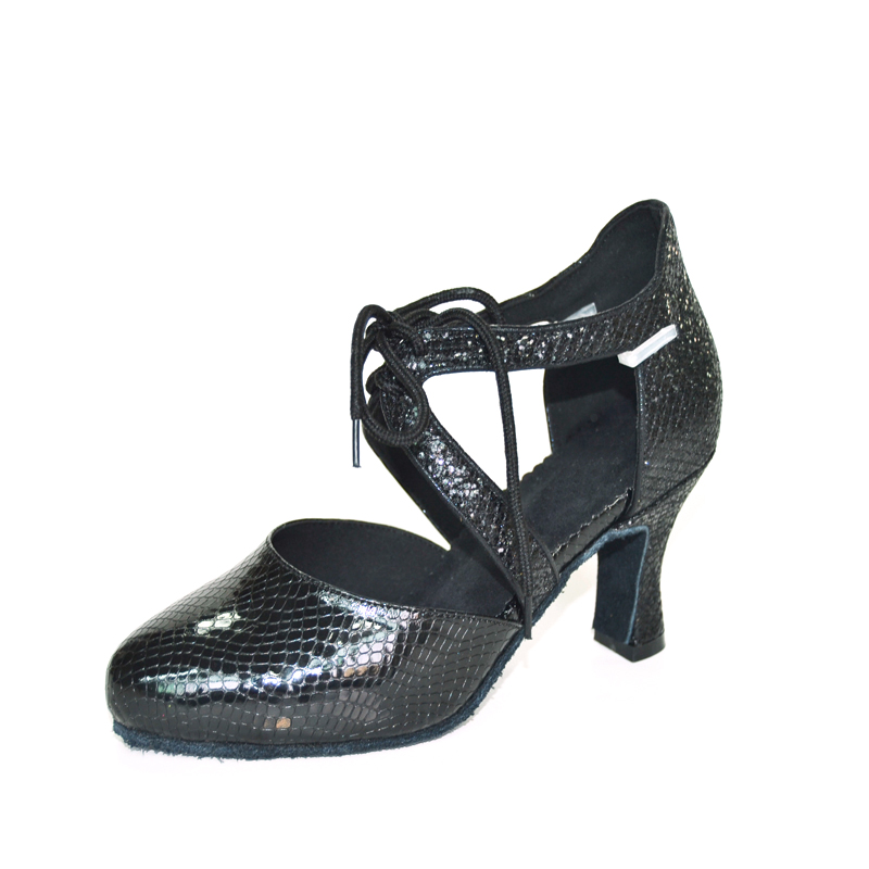 Buy New Design Lace Up Ladies Women Tango Salsa Ballroom Latin Dance Shoes with Suede Sole 2.75 Inch Heels Sequin for only 29.49 USD