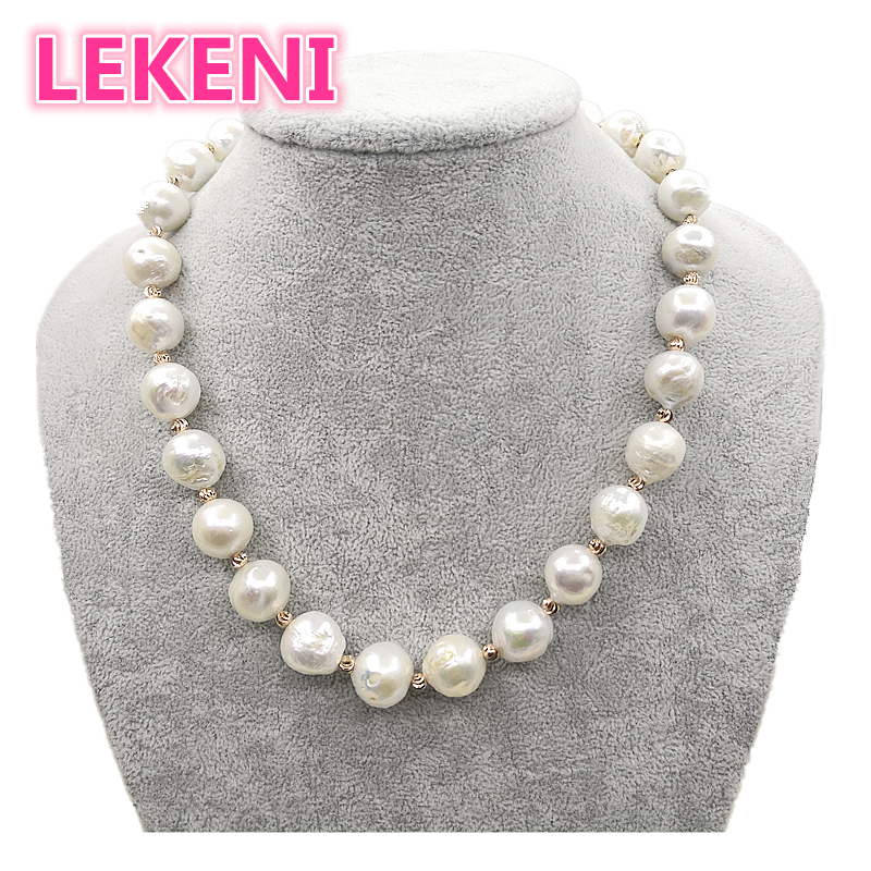 high quality Really pure natural Metallic luster Big pearl 11 15mm Baroque Irregular Pearl Necklace for