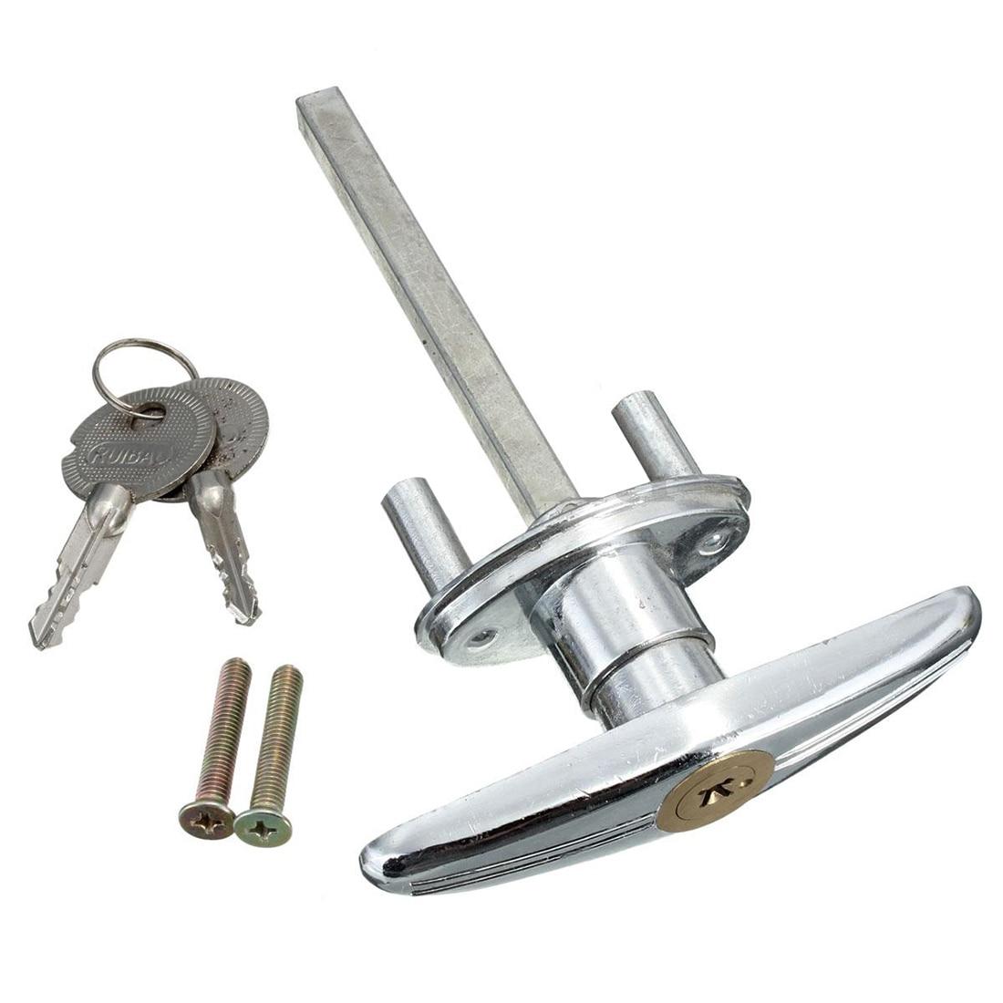 Garage door lock T handle with key screw metal copper Garage door lock T handle with key screw metal copper