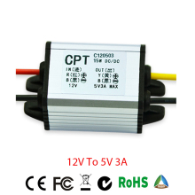12V-5V 3A DC DC Converter Waterproof Power Voltage Converter Step-down 12V to 3.3V 3.7V 5V 6V 7.5V 9V 3A DC DC Converter for Car цена
