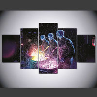 5 Piece Canvas Painting For Livingroom Blue Man Group Chicago Posters And Prints Ny 097