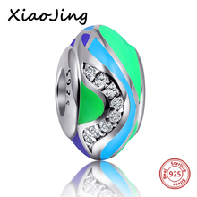 SG 2017 New Style 925 Sterling Silver Bead With Colours of the rainbow Polishing Enamel Fit Pandora Bracelet