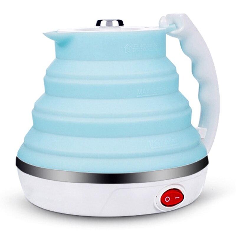 Bouilloire électrique pliable ultra-mince de voyage de Silicone de catégorie comestible d'ébullition Portable de Protection sèche avec la double tension et Sepa