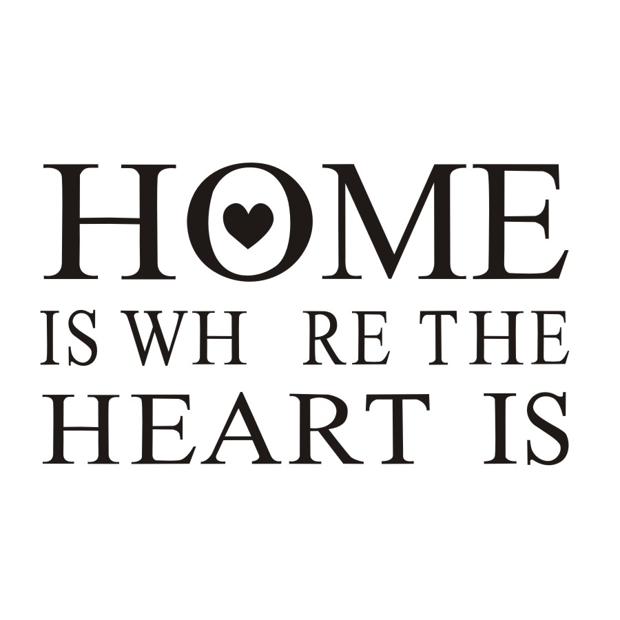 Home Is Where The Heart Is Quote Home Is Where The Heart Is Quotes Wall Sticker Vinyl Removable