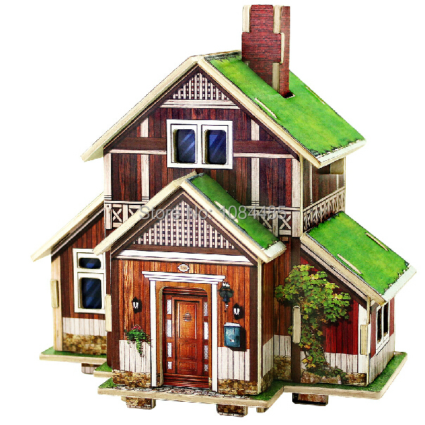 Beautiful Norway Residence House Model Building Kits Diy Wooden 3d Puzzle For Kids And Adults