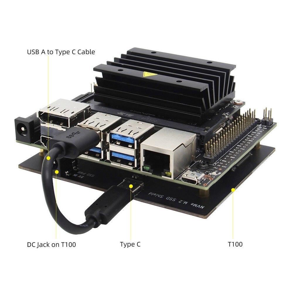 NVIDIA Jetson Nano M 2 NVMe SSD Storage Expansion Board T100 V1 1 SSD Shield for