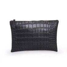 Einfache klassische krokodilkorn frauen geldbörsen clutch bag pu-leder frauen umschlag abendtasche female Clutches Handtasche bolsas