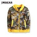 Jmbear hoodies de los cabritos de la chaqueta outwear capa de la manera ocasional adecuado para 3 a 6 años de edad los niños a2016 otoño nueva