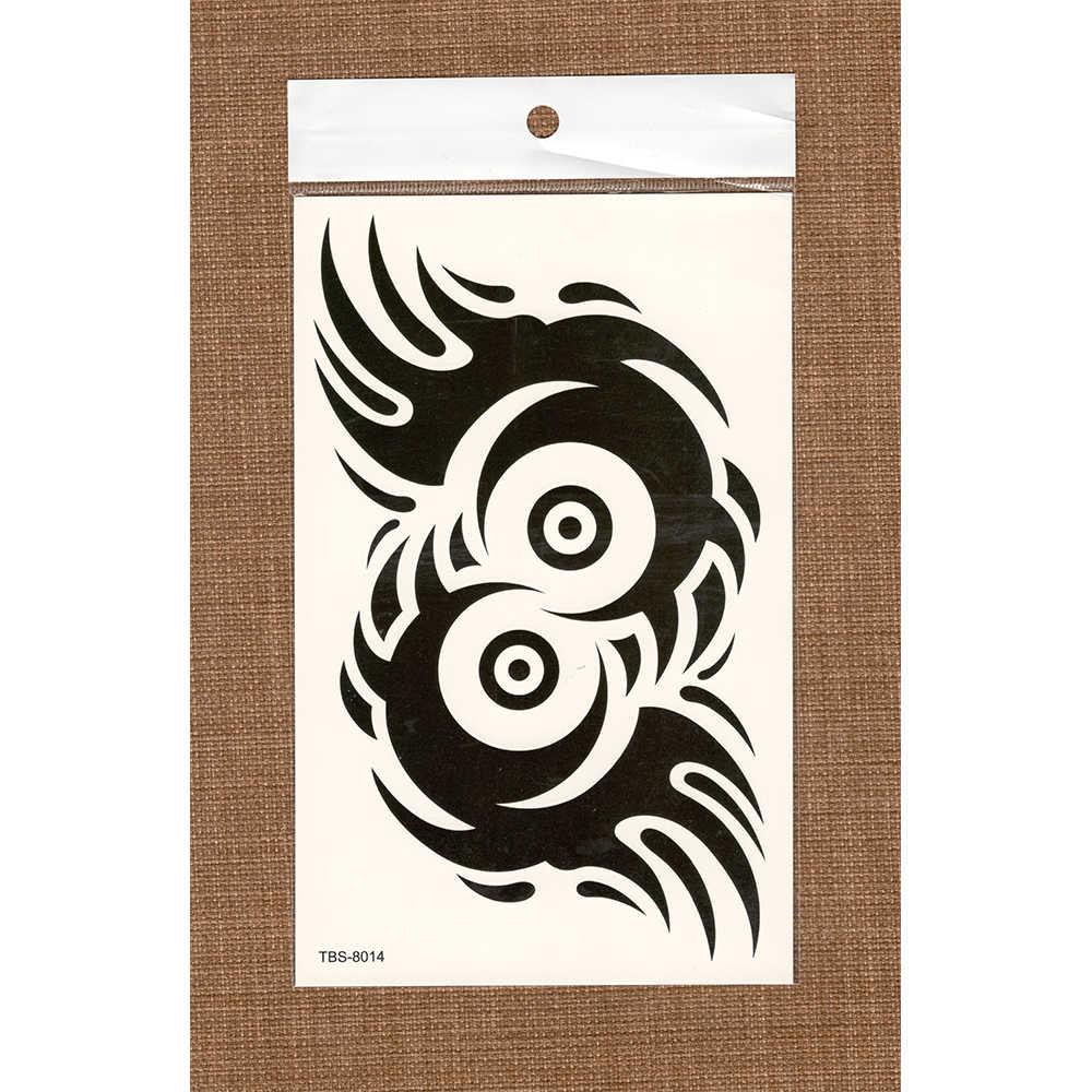 Временные фальшивые татуировки водонепроницаемые наклейки для переноса воды с Племенной Тотем черные наклейки для женщин и мужчин блестящие сексуальные украшения для тела