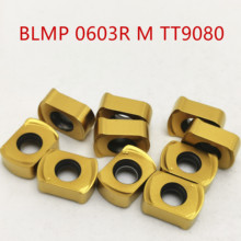 Lathe tool BLMP 0603R M TT9080 carbide insert milling cutter BLMP0603R milling machine turning tool tungsten carbide suggested zccct bmr04 016 g16 m indexable milling cutter sant b03 16z16 016 m with zohx1604 carbide insert for zcc