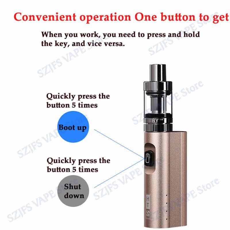 2019 Новый Vape ручка 2200 мАч электронная сигарета коробка мод комплект оригинальный Ht50 50 Вт 0.5ohE-сигареты наборы 2 мл Atomizer емкость для жидкости испаритель