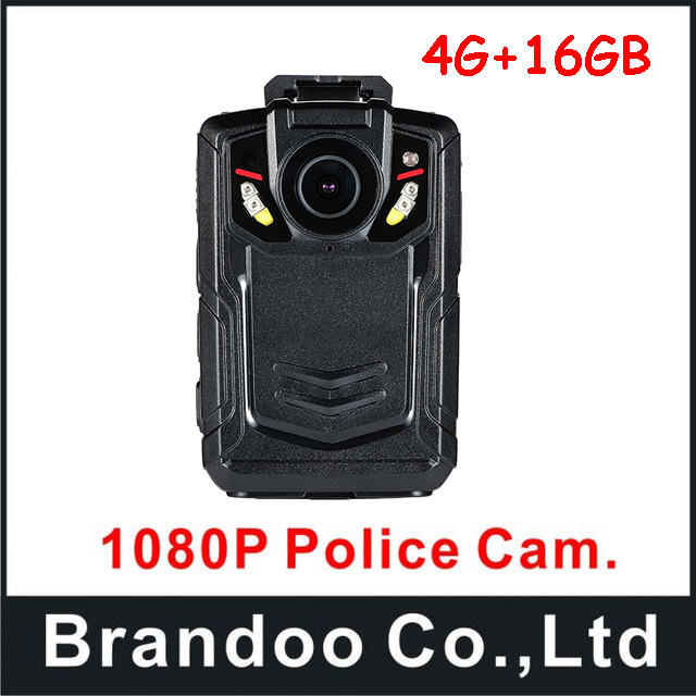 Full HD 1080P 16GB Police Cam DVR Hands Free Police Body Security Worn Camera with 4G function