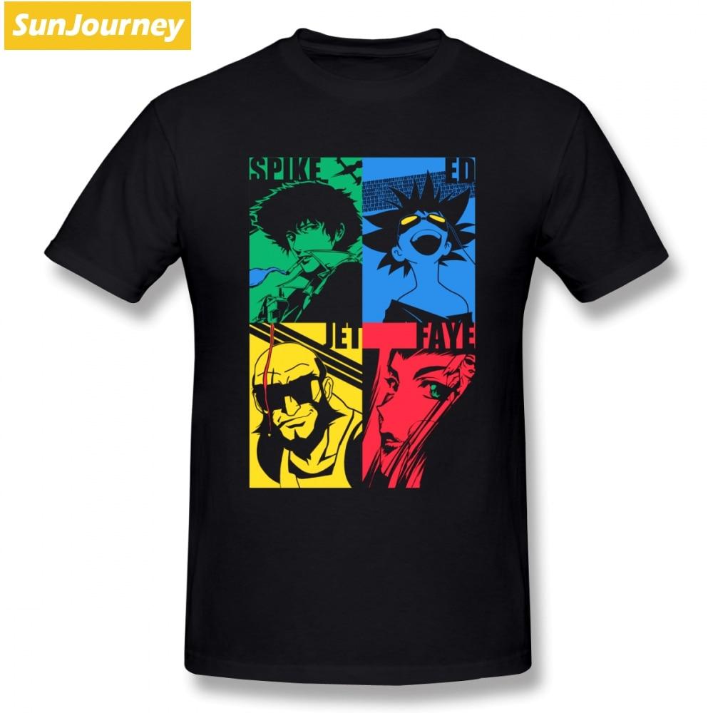 514a1c45b986 Cowboy Bebop T Shirt Custom Short Sleeve Brand Clothing Hiphop Cheap Big  Size Cotton Crewneck Men's