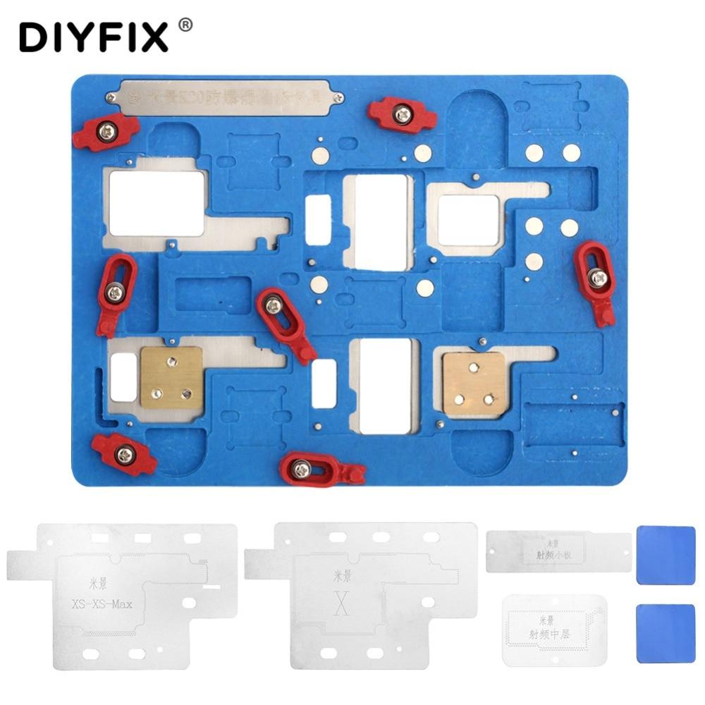 $32.99 DIYFIX Mi Jing K20 for iPhone X/XS/XS MAX Mobile Phone Repair Multi-Motherboard Fixtures for A11 CUP Degumming CellPhone Repair