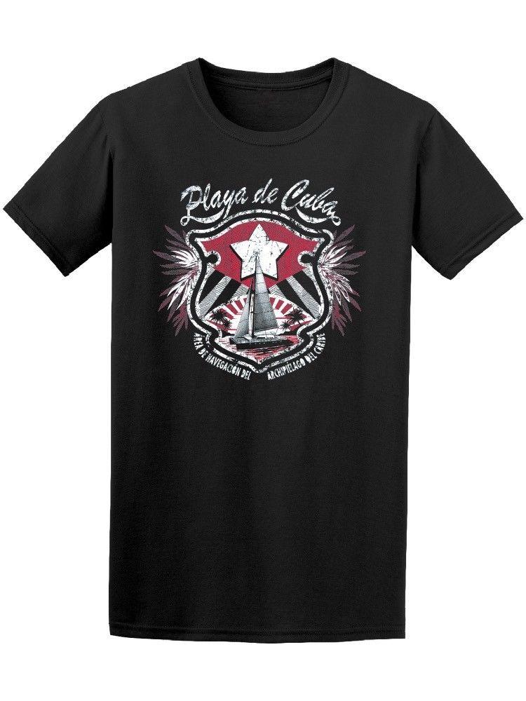 Playa De Cuba Sailinger Caribbean Mens Tee Sleeve Tee Shirt Homme T Shirt Summer Style Hip Hop Men T-Shirt Tops