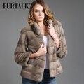 FURTALK  шубы из натурального меха 60 см Норки Куртка Настоящее Природный норки пальто Женщин Зима Норковая Шуба